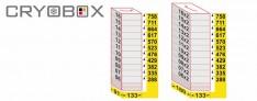 MTP Etagère verticale boite 45 mm h.