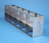 CellBox Maxi  Schrankgestell 5x2 Fächer für 10 Kryoboxen bis 148x148x128 mm Klappgriff, offene Bauform