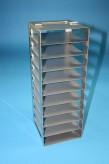 BRAVO 32 Truhengestell für 10 Kryoboxen bis 133x133x35 mm Klappgriff, Edelstahl
