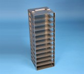 BRAVO 32 Truhengestell für 12 Kryoboxen bis 133x133x35 mm Klappgriff, Edelstahl