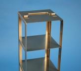 CellBox Mini Truhengestell für 2 Kryoboxen bis 122x122x128 mm Klappgriff, Edelstahl