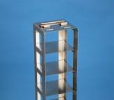 NANU 50 Truhengestell für 7 Kryoboxen bis 76x76x53 mm Klappgriff, Edelstahl